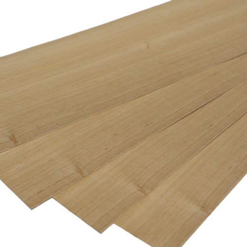"Koto veneer. Set of 4 leafs: 22 "" x 7"" ( 56 x 18 cm )"